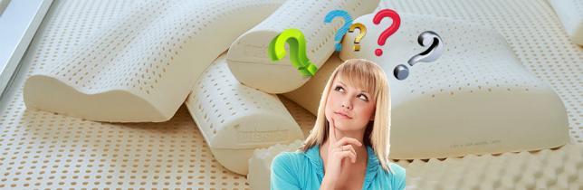 Как правильно выбрать и купить латексную подушку